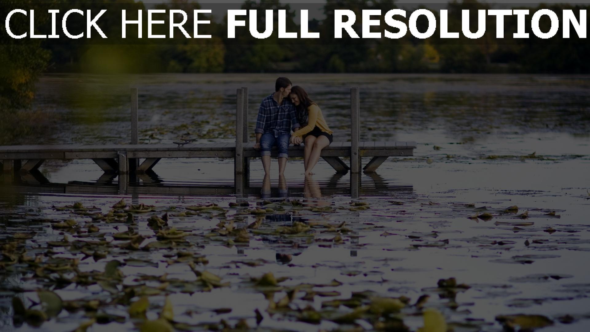 hd hintergrundbilder paar fluss natur zärtlichkeit romantik 1920x1080