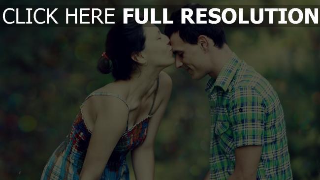 hd hintergrundbilder paar mädchen junge küssen romantisch