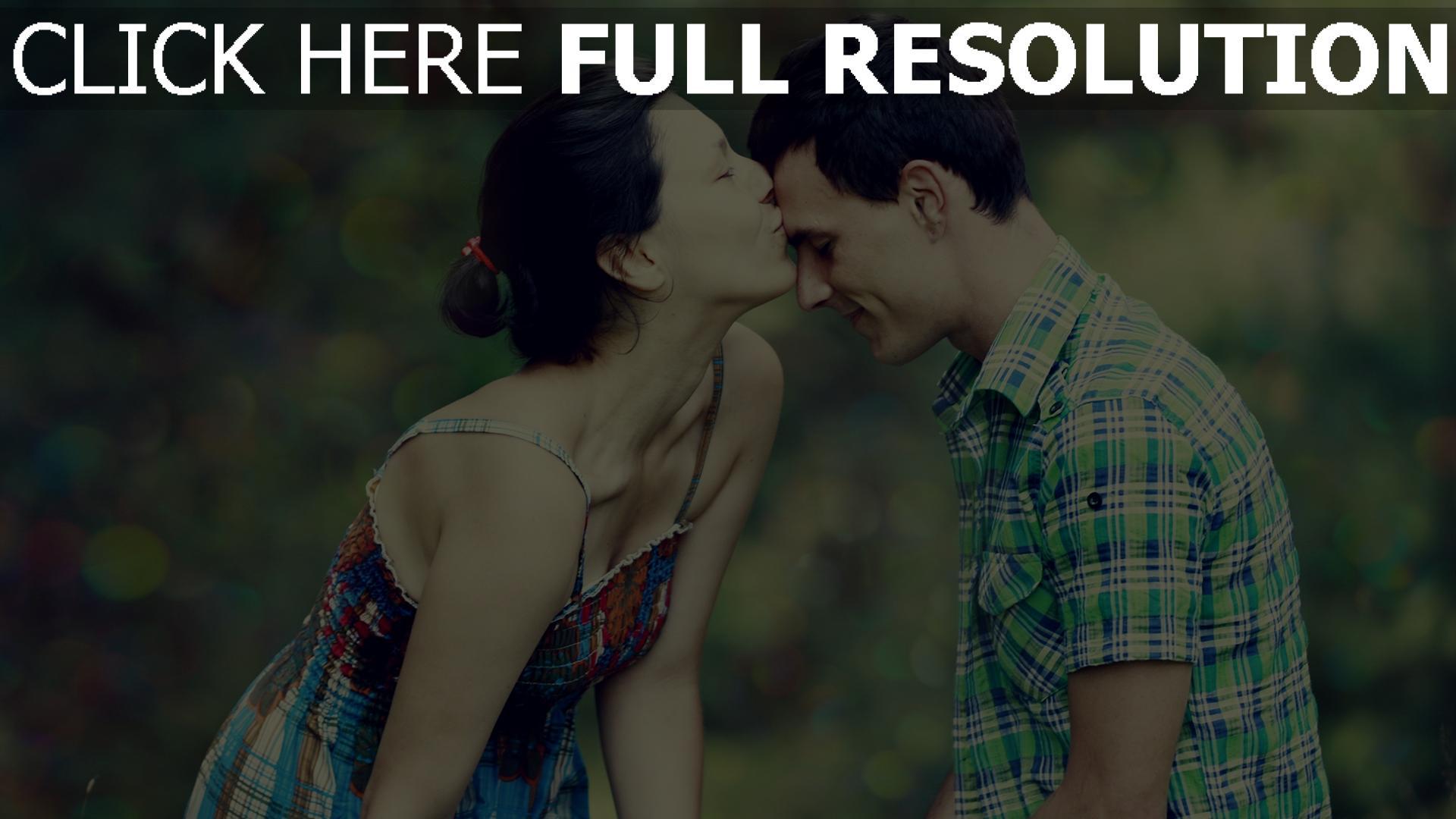 hd hintergrundbilder paar mädchen junge küssen romantisch 1920x1080