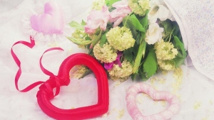 bouquet romanze herz hydrangea blumen