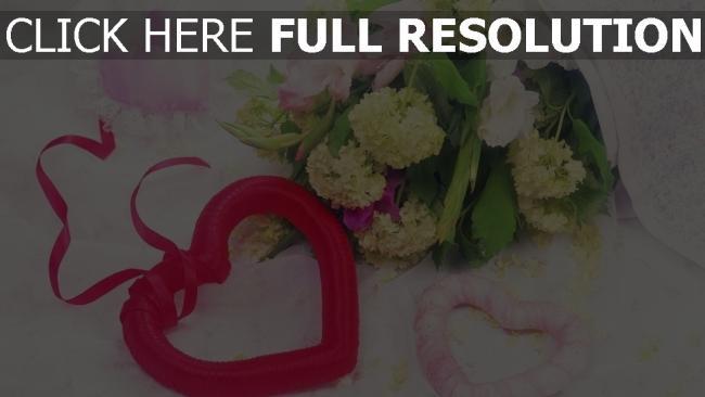 hd hintergrundbilder bouquet romanze herz hydrangea blumen