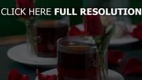 tee tasse rosen blüten romantik