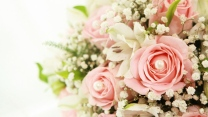 rosen blumenstrauß zarte blütenblätter romantik