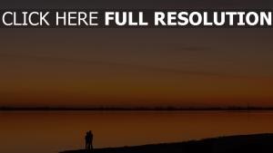 paar sonnenuntergang fluss strand romantik