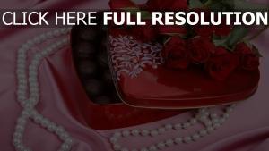 rosen blumenstrauß süßigkeiten perlen romantisch