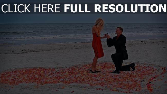 hd hintergrundbilder paar romantik rose meer angebot