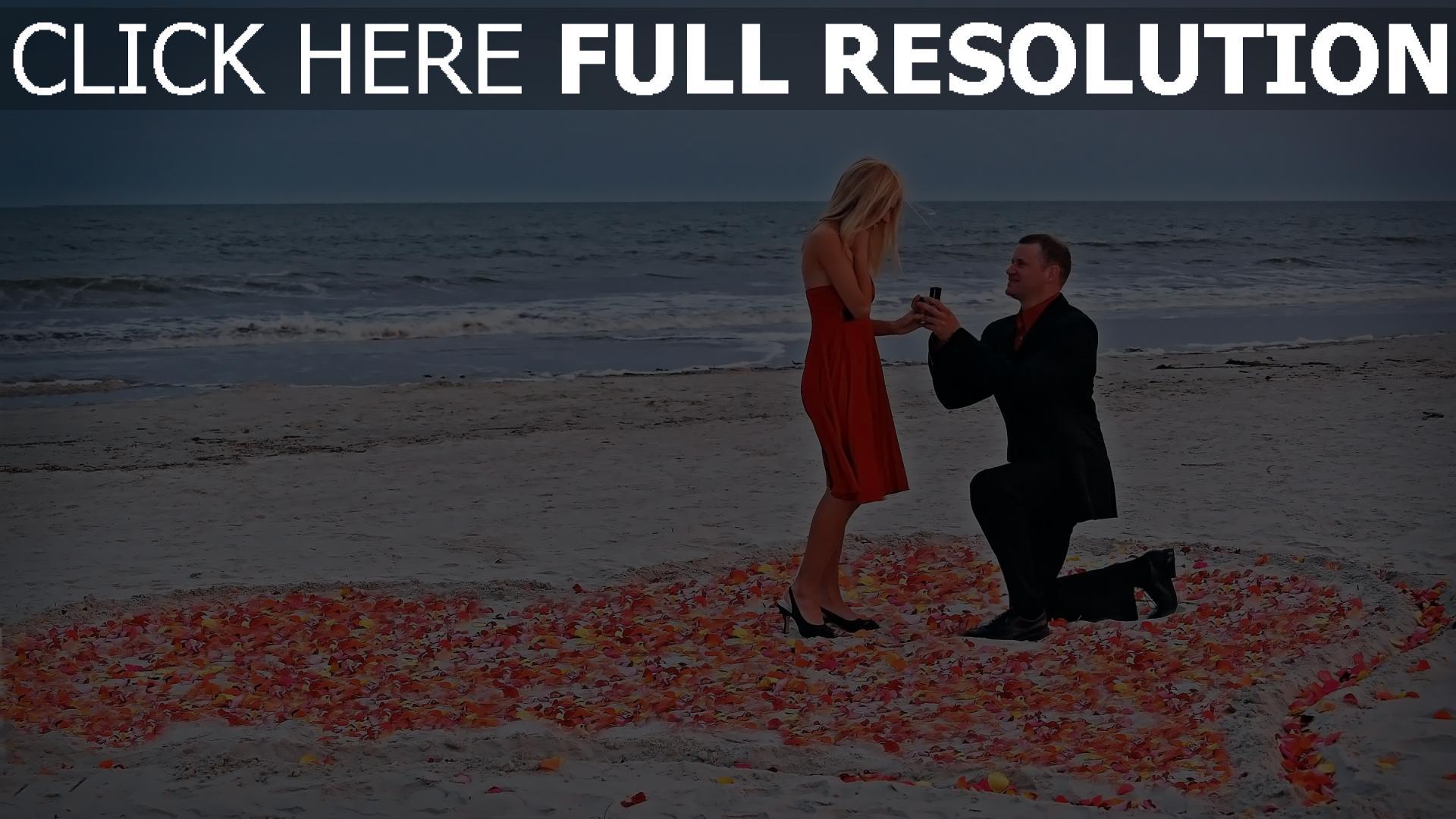 hd hintergrundbilder paar romantik rose meer angebot 1920x1080