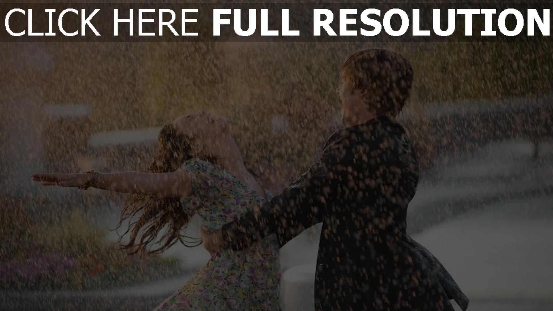 hd hintergrundbilder regen tropfen paar tanz freude romantik 1920x1080