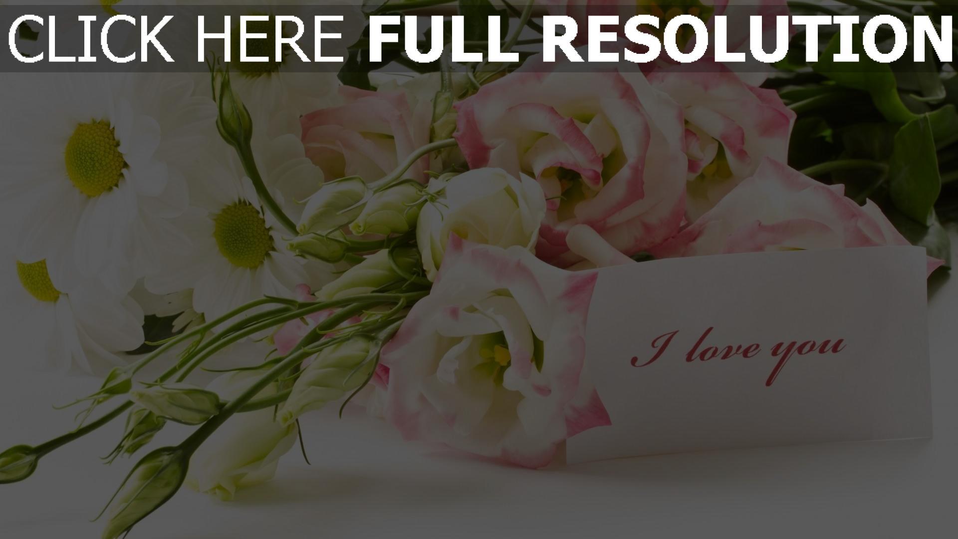 hd hintergrundbilder blumenstrauß blumen rosen grüße romantik 1920x1080