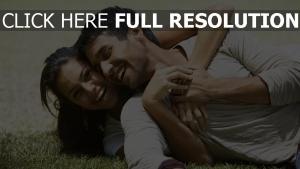 paar lächeln glück liebe romantik
