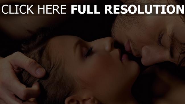 hd hintergrundbilder paar küssen frau mann