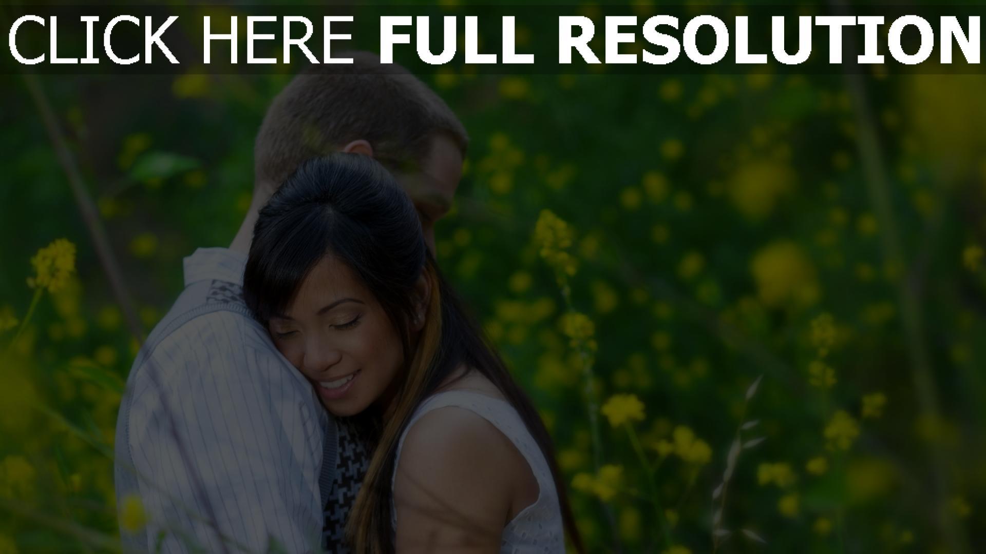 hd hintergrundbilder paar umarmen zärtlich romantisch 1920x1080