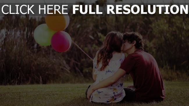 hd hintergrundbilder paare junge mädchen küssen gefühl