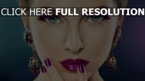make-up blaue augen gesicht mädchen