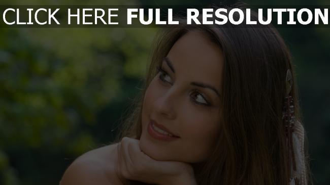 hd hintergrundbilder haar lächelnd gesicht braune augen brünett