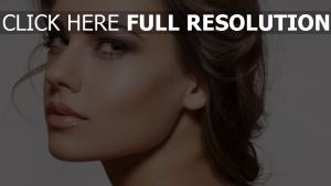 make-up modell gesicht blick brünett