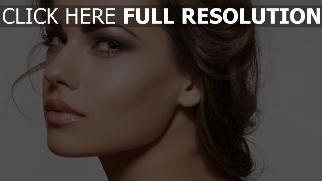 hd hintergrundbilder make-up modell gesicht blick brünett