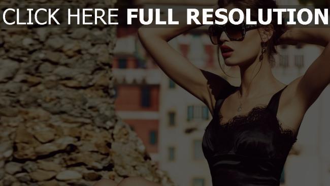 hd hintergrundbilder kleid modell sonnenbrille mädchen