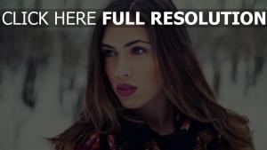make-up gesicht blick brünett