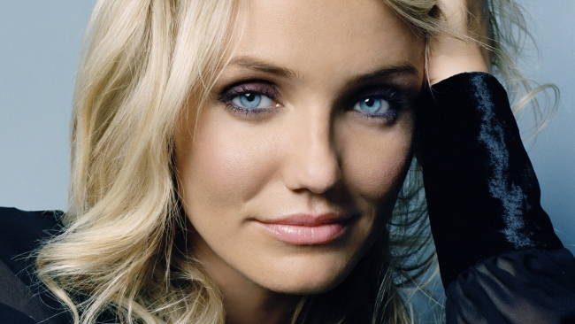 hd hintergrundbilder cameron diaz blaue augen blondes haar lächeln