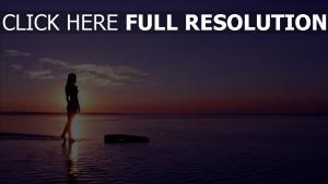meer silhouette sonnenuntergang himmel sonne