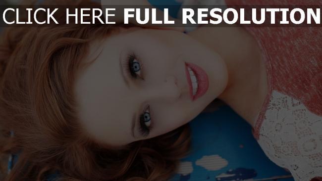 hd hintergrundbilder haare rot augen blau make-up