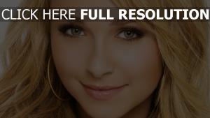 hayden panettiere blond gesicht make-up blick