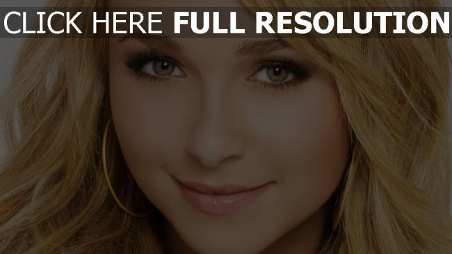 hd hintergrundbilder hayden panettiere blond gesicht make-up blick