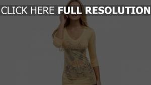 blonde modell hemd muster