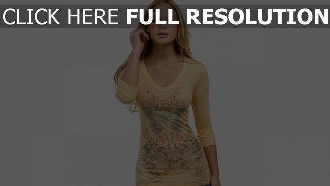 hd hintergrundbilder blonde modell hemd muster