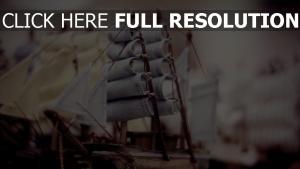 schiffe segel miniaturen holz