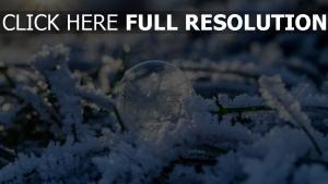 kugel schnee frost blase