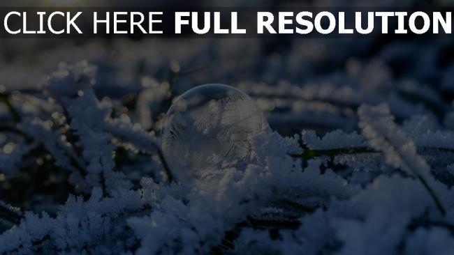 hd hintergrundbilder kugel schnee frost blase