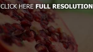 obst close-up beeren granatapfel