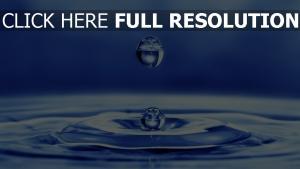 tropfen flüssigkeit welle blau