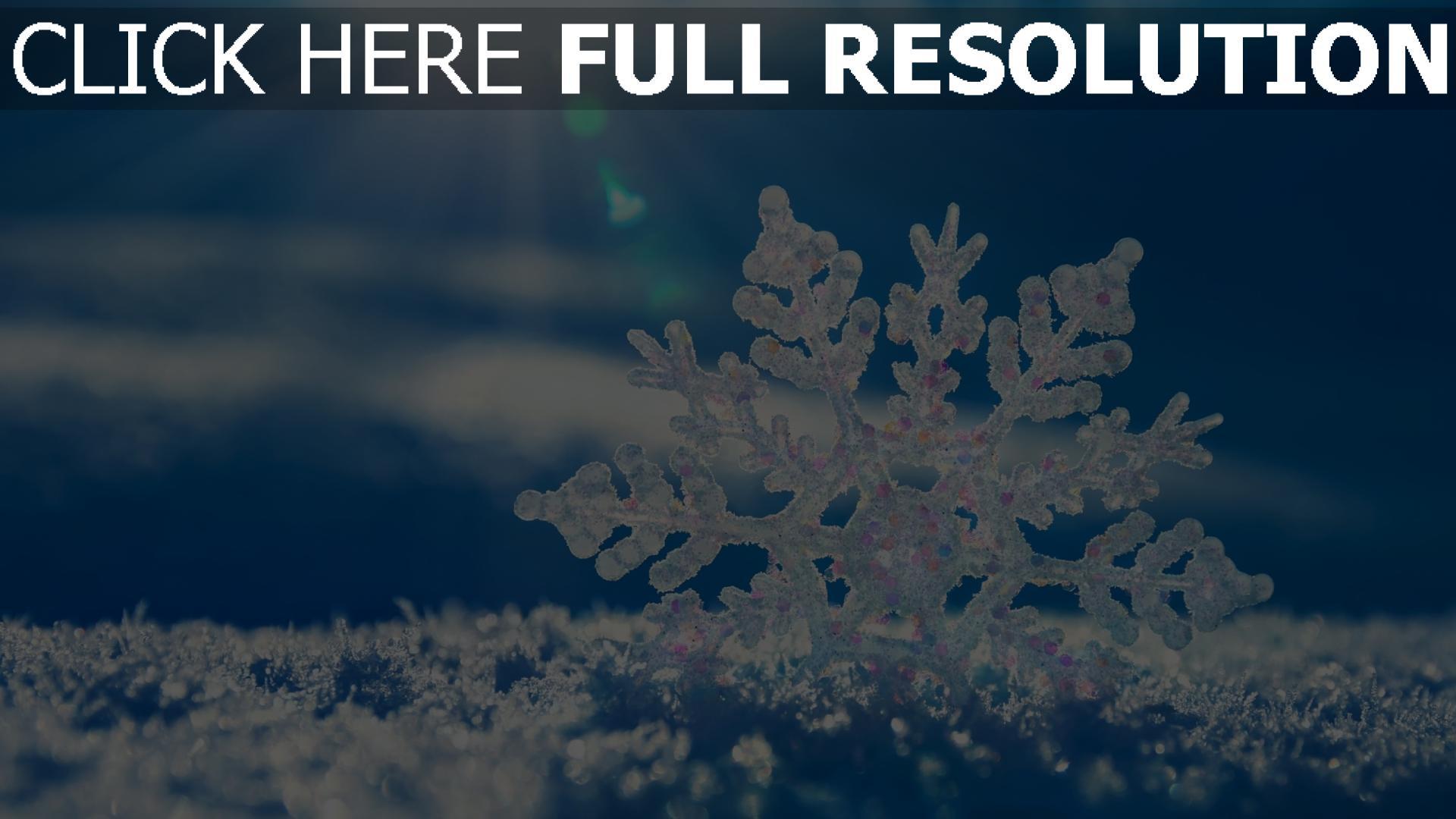 hd hintergrundbilder schneeflocke schnee rochen winter 1920x1080