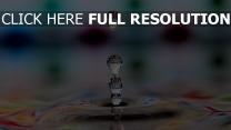 tropfen flüssigkeit wasser muster mehrfarbig