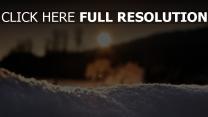schnee licht sonnenuntergang winter