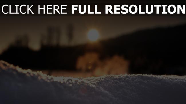 hd hintergrundbilder schnee licht sonnenuntergang winter desktop hintergrund. Black Bedroom Furniture Sets. Home Design Ideas
