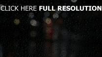 regen tropfen glas nacht bokeh