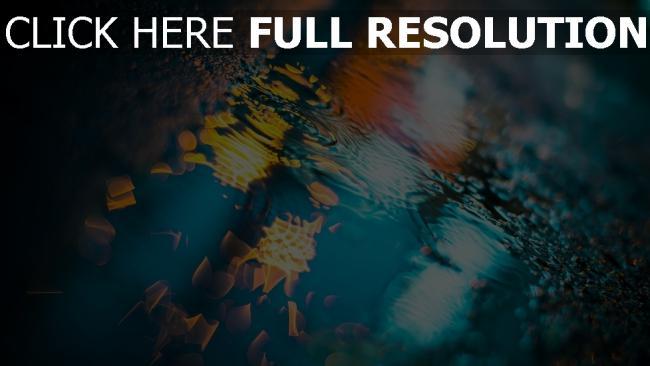 hd hintergrundbilder pfütze wasser reflexion asphalt beleuchtung
