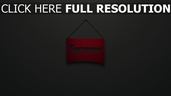 hd hintergrundbilder supreme logo zeichen rot grau minimalismus