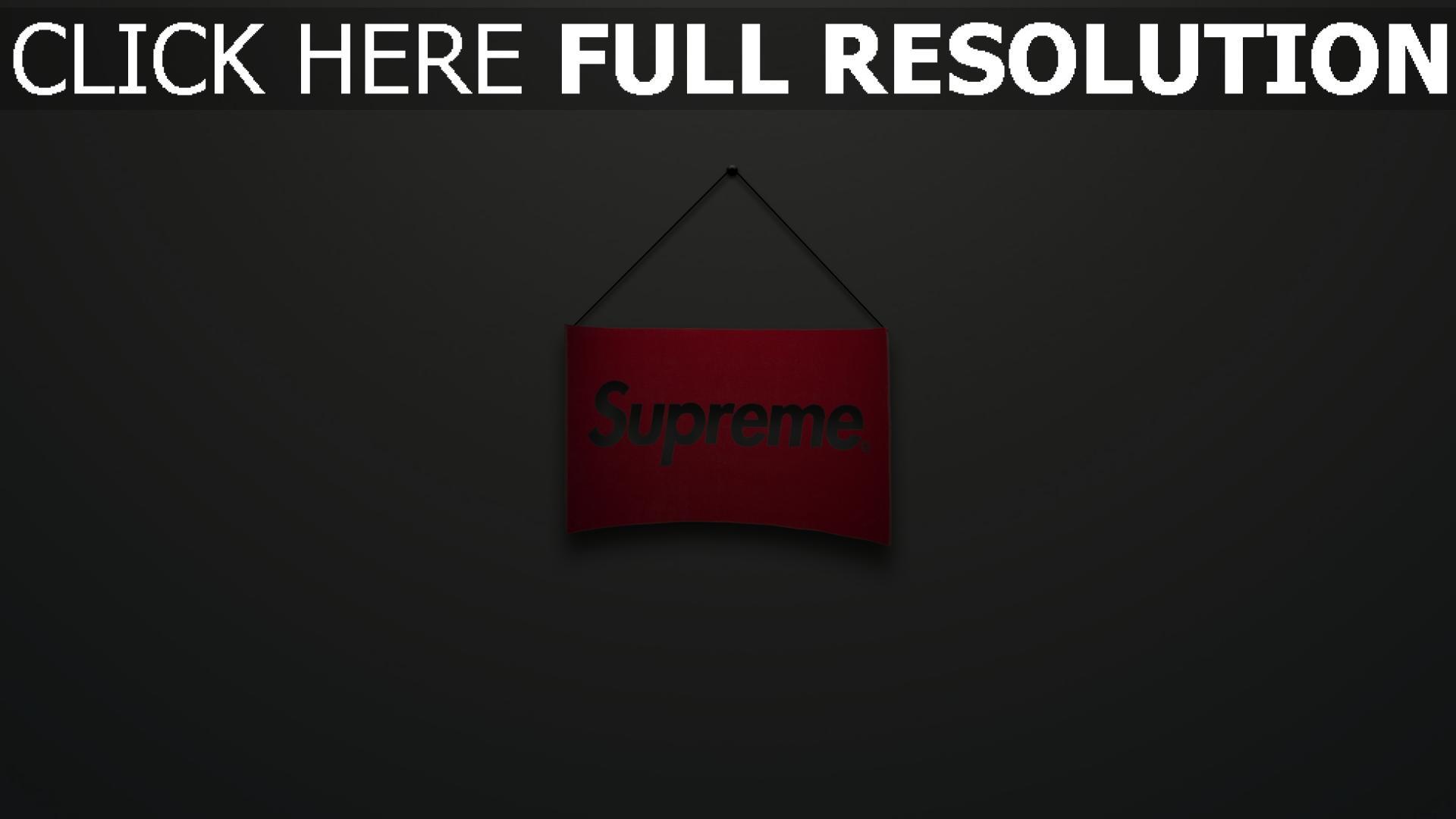 Supreme Logo Zeichen Rot Grau Minimalismus