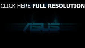 asus logo slogan blau schwarz