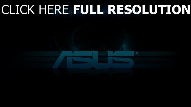 hd hintergrundbilder asus logo slogan blau schwarz