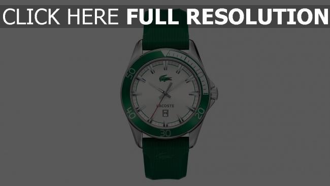 hd hintergrundbilder lacoste armbanduhr logo grün