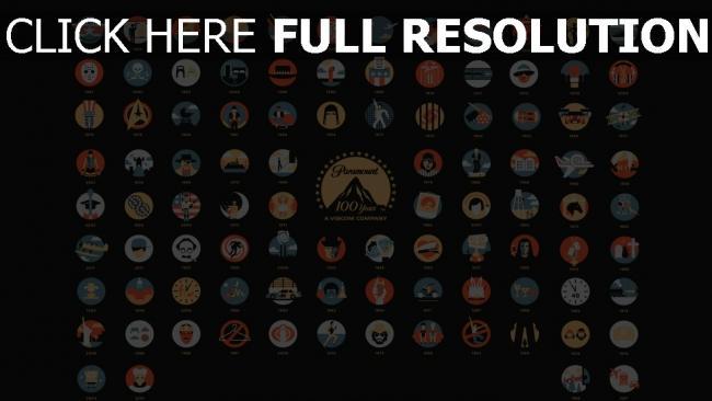 hd hintergrundbilder paramoumt jubiläum 100 jahre logos filme