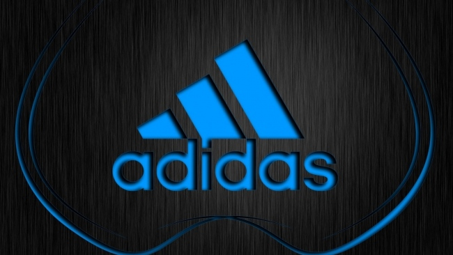 hd hintergrundbilder adidas logo blau oberfläche textur