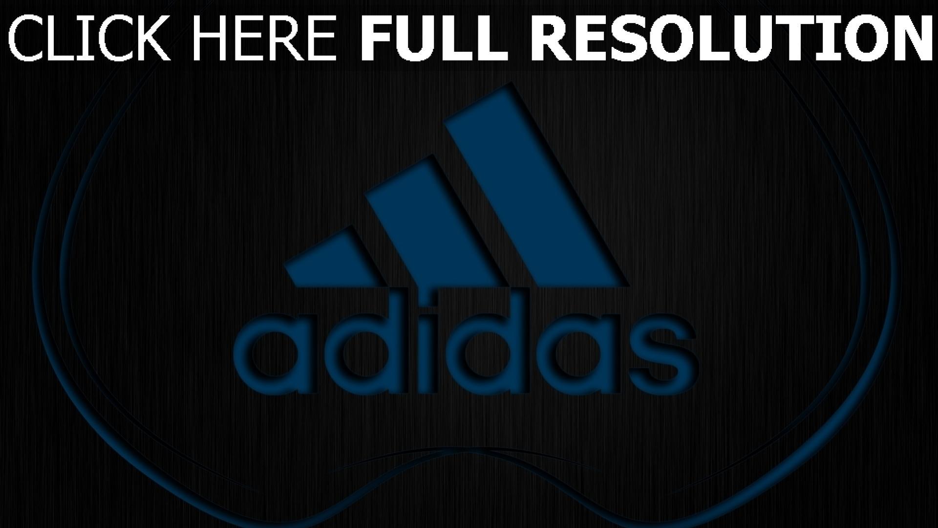hd hintergrundbilder adidas logo blau oberfläche textur 1920x1080