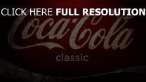 coca cola logo weiß rot textur